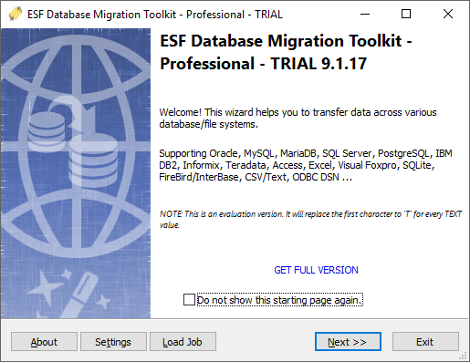 ESF Database Migration Toolkit Screen shot